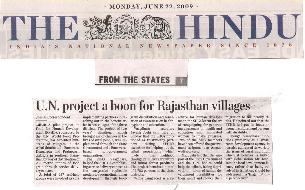 VAAGDHARA in Media - Vaagdhara - A NGO working in Rajasthan