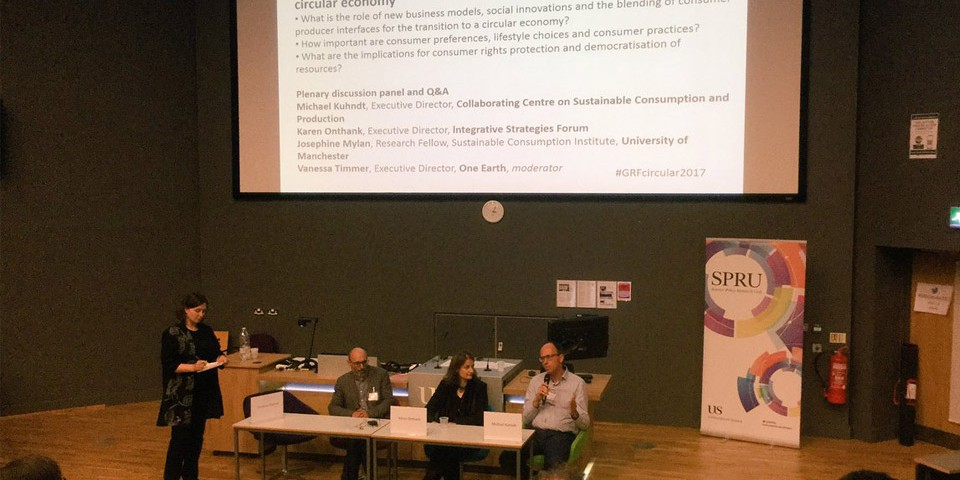 Sustainable lifestyles, livelihoods and the circular economy' conference