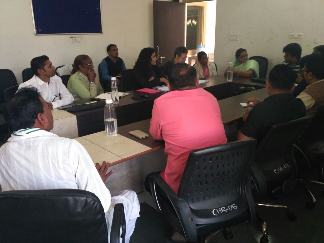 Govt officials & PRI, meeting for FHFI project