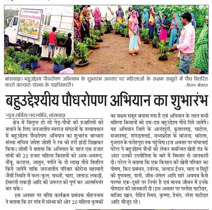 Multi-purpose-Planting Campaign-Vaagdhara-Banswara-News-2